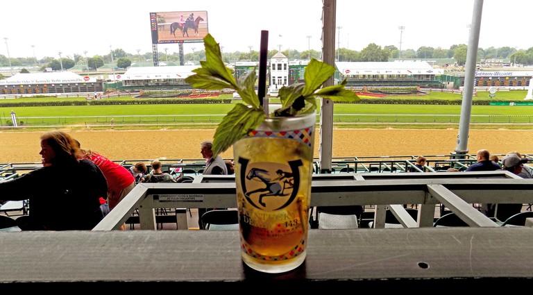Mint julep at the Kentucky Derby
