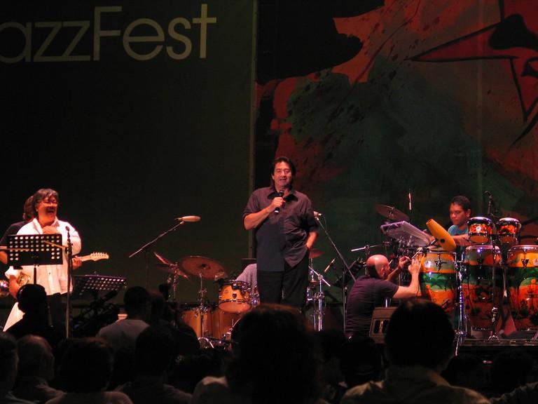 Musicians at the Heineken Jazz Festival