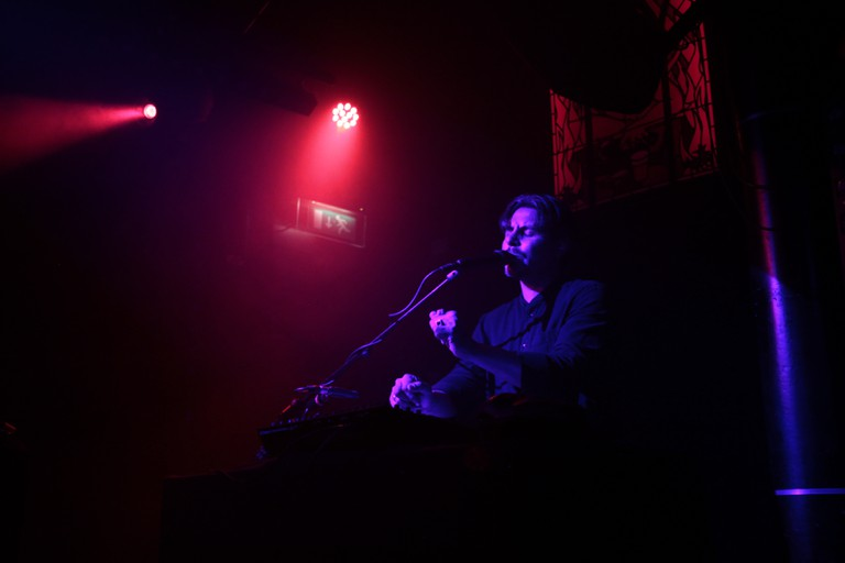 Ryan Karazija performing a song from Low Roar's third album