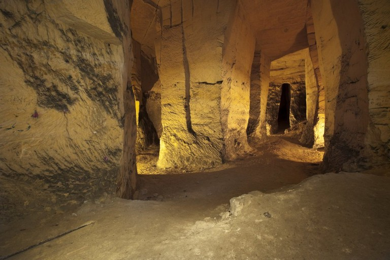 The ancient tunnels beneath Maastricht