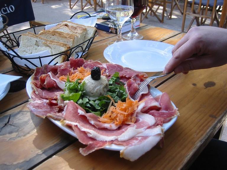 A picada dish served at a restaurant in Argentina   © Tjeerd Wiersma / Flickr