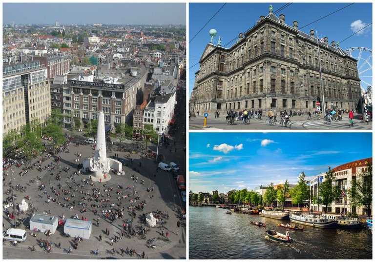 Dam Square is now completely surrounded by land