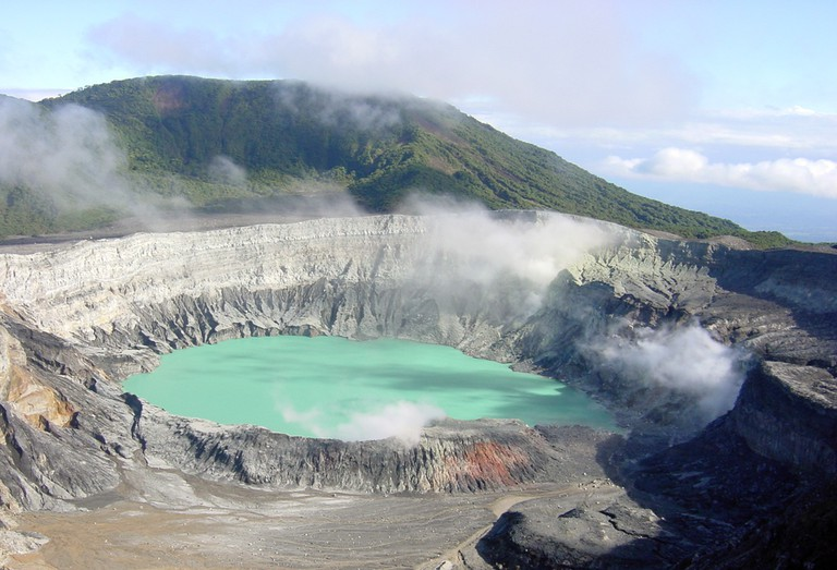 Active and colorful: the Poás Volcano