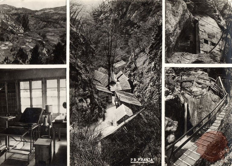 Postcard from the Franja Partisan Hospital│