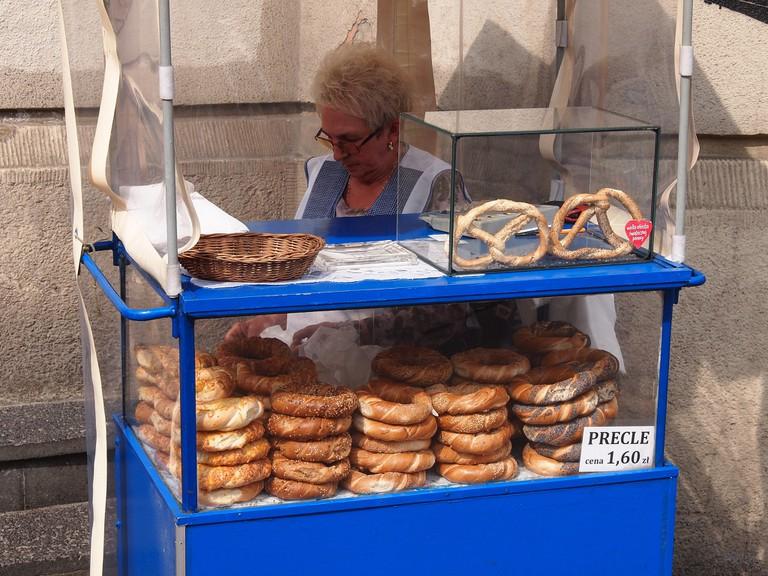 Pretzel stall in Krakow   © Paul Arps/Flickr