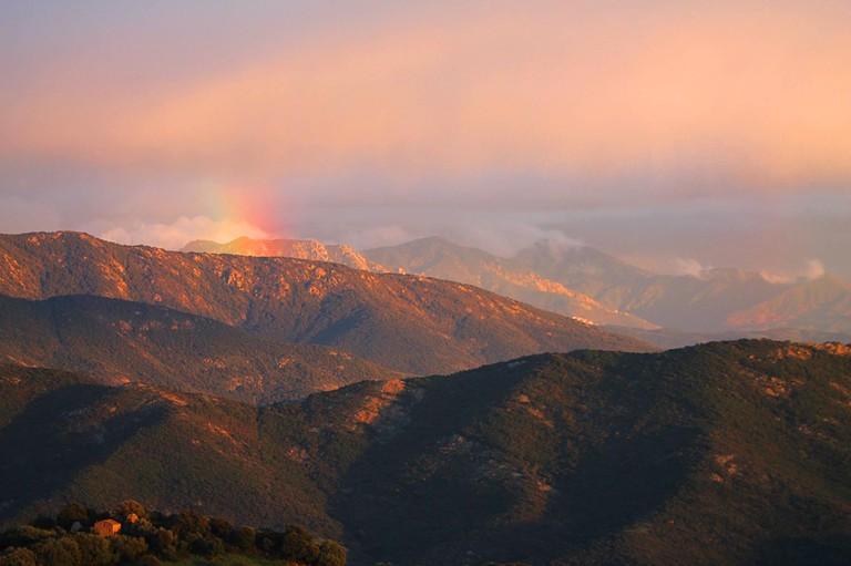 An example of a Mountain Rainbow