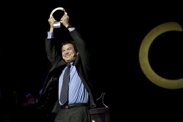 Randall Arauz accepting the Goldman Prize in 2010