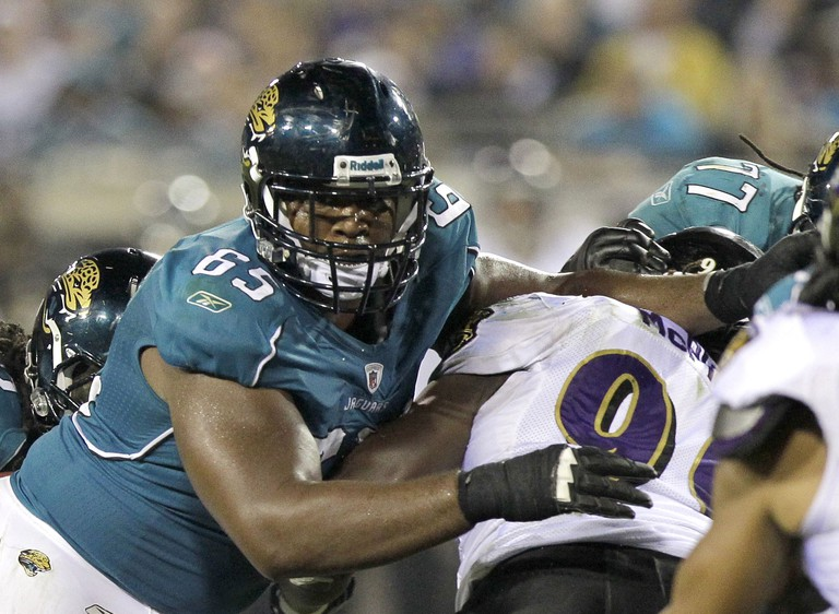 Will Rackley (65) played three seasons with the Jacksonville Jaguars | © John Raoux/AP/REX/Shutterstock