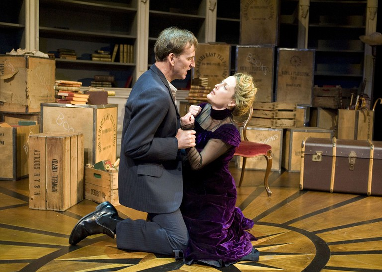 Gillian Anderson as Nora with Christopher Ecceleston, Donmar Warehouse, London, 2009 | © Geraint Lewis/REX/Shutterstock