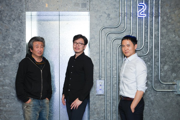 Artists Cody Choi and Lee Wan and curator Lee Daehyung