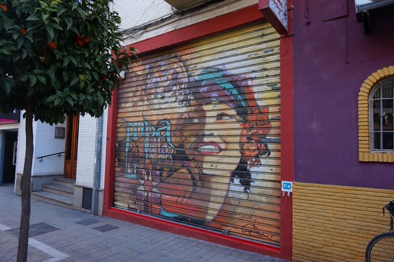 Street art in Realejo by El Niño; Encarni Novillo