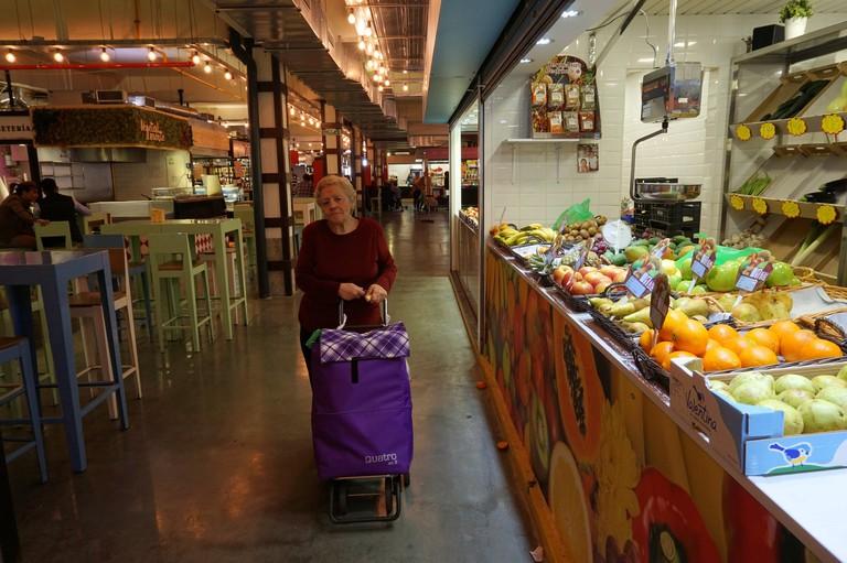 Mercado Merced: a great place to hang out as well as shop; Encarni Novillo