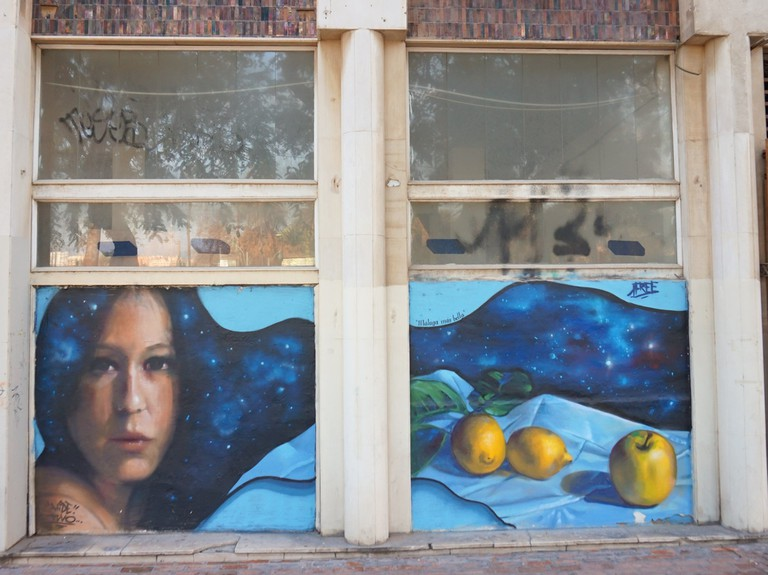 Street art in Malaga's Soho; Encarni Novillo