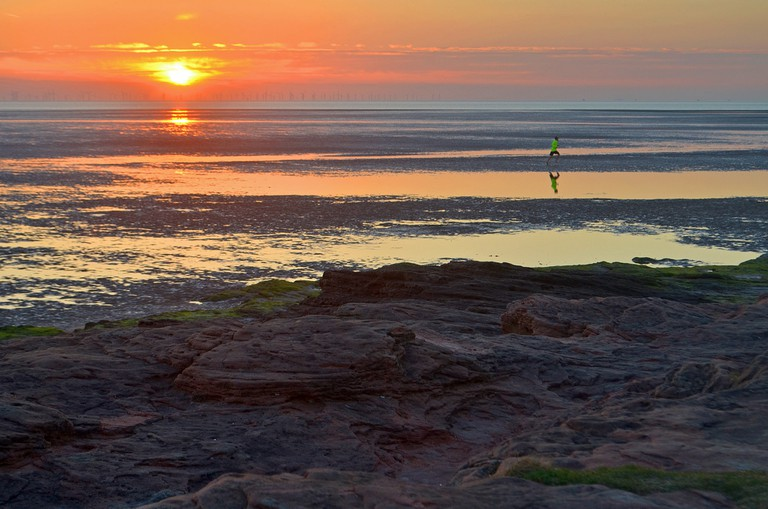 Runner at Red Rocks, Wirral