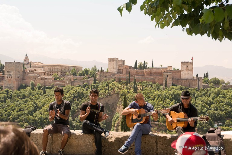 Gypsies performing flamenco in Albaicin