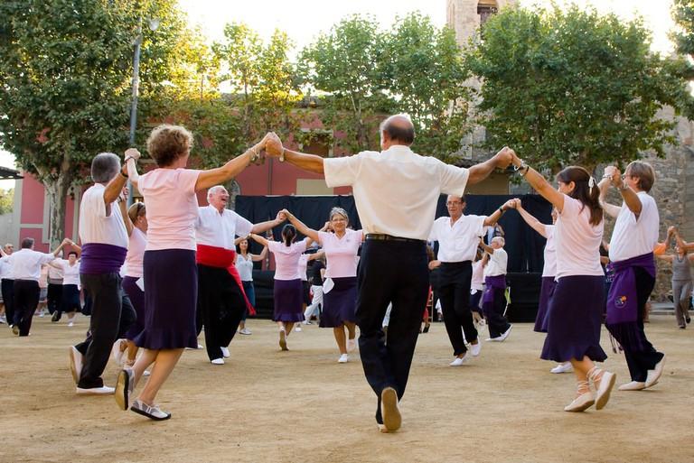 Sardana, typical dance of Catalonia, Spain