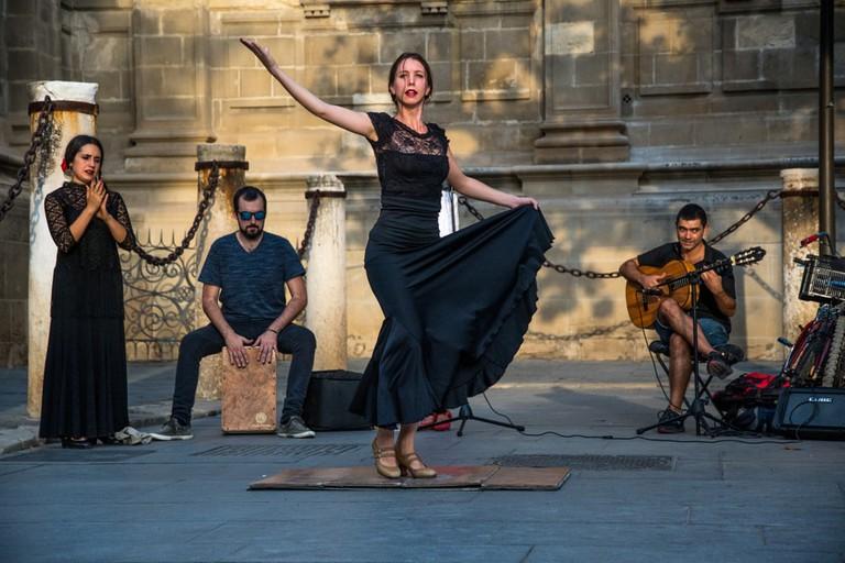 Flamenco Dancer in Seville, Spain