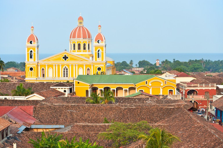 The yellow church in Granada, Nicaragua