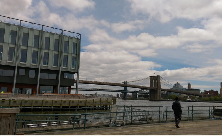 View of The Brooklyn Bridge from Pier 16 [ © Patricia Contino
