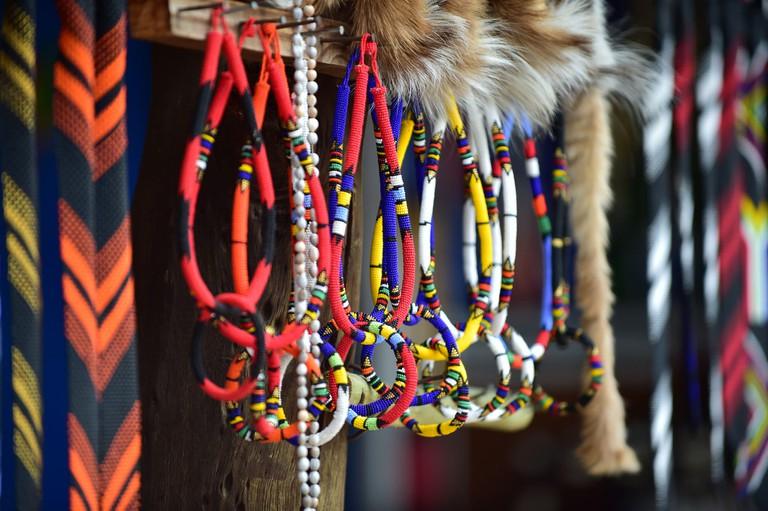 Colourful beadwork