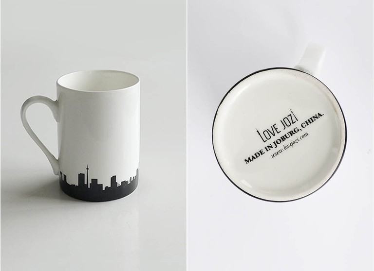 Love Jozi skyline mug