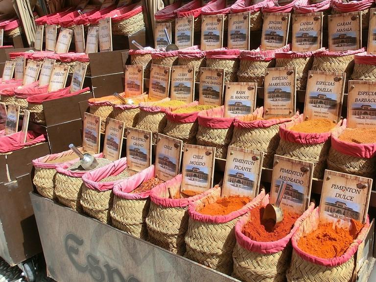 Spices at Granada Alcaiceria market