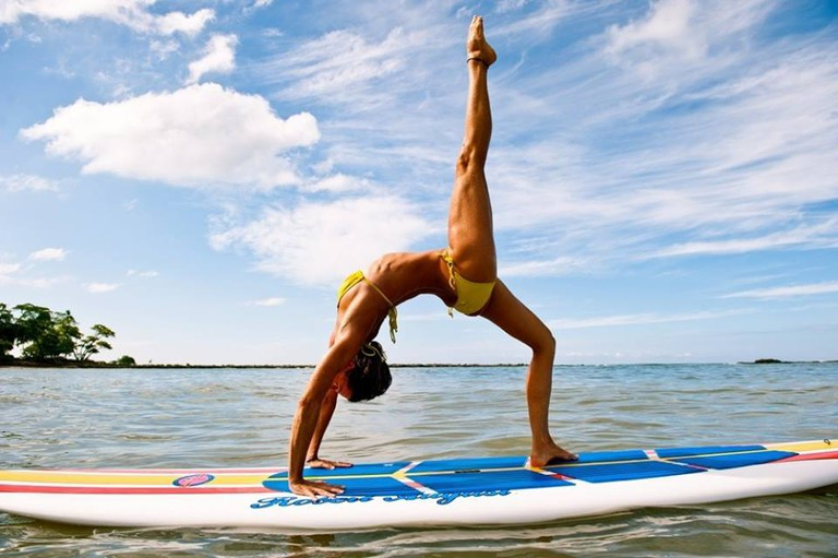 SUP yoga goddess | © Vajra Sol Yoga Adventures