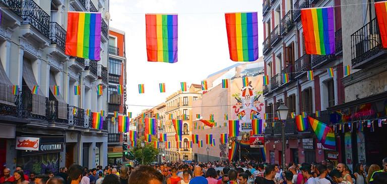Madrid celebrating Pride