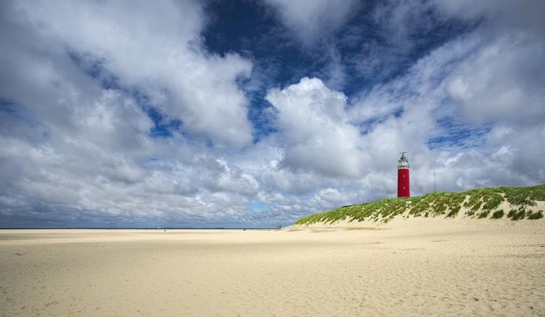 Clear skies above Texel's Eierland lighthouse