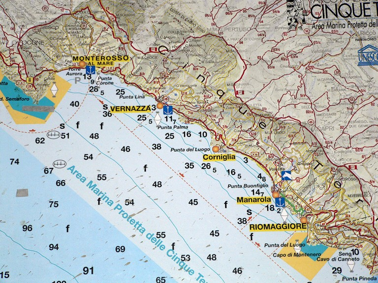 The Cinque Terre Trail Map©LeeCoursey:Flickr