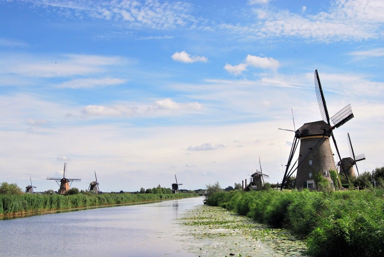 There are dozens of bicycle paths around the windmills at Kinderdijk