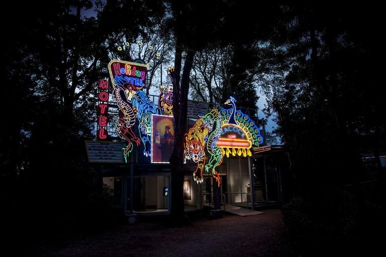 Night installation view at the Korean Pavilion, 57th International Art Exhibition, La Biennale di Venezia