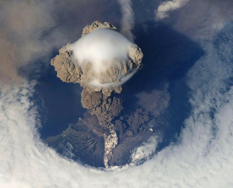 Volcanic eruptions can be monitored on SkyAlert