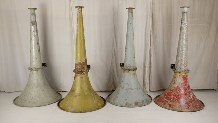 Shipping horns at Woodstock Antiques | courtesy of Woodstock Antiques