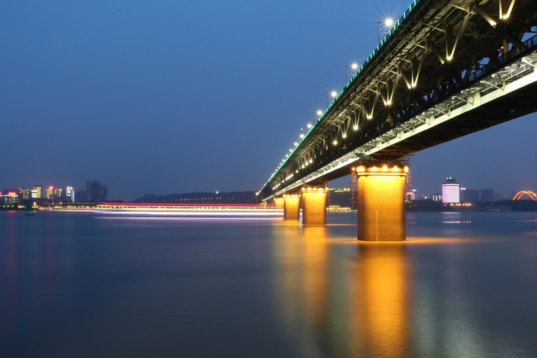 Yangtze River Bridge by Night