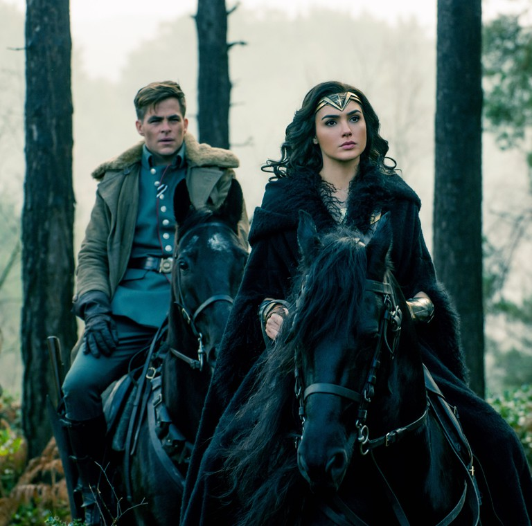 Chris Pine following the leader in Wonder Woman