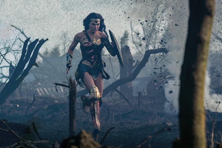 Gal Gadot runs into battle as Wonder Woman