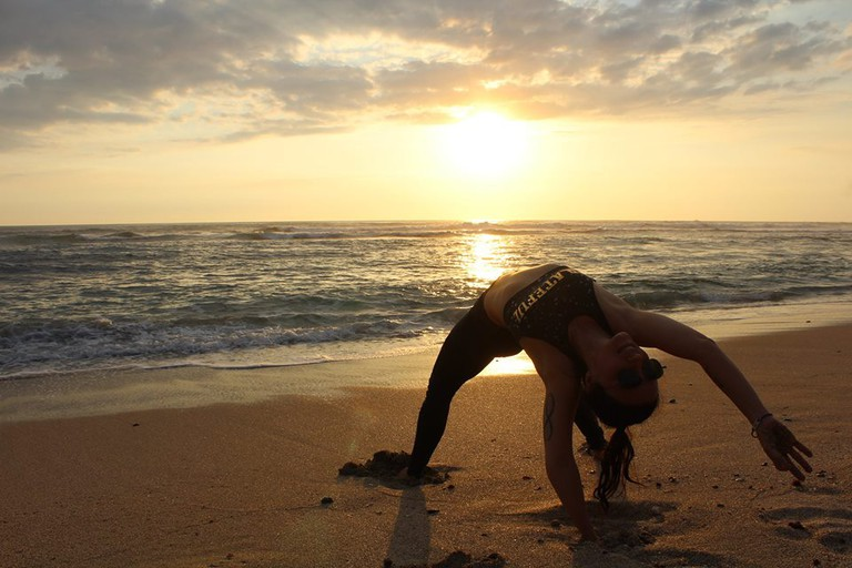 Get your yoga on   © Mermaids and Sailors