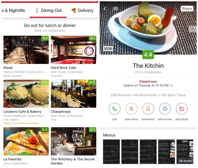 Zomato App Screenshots