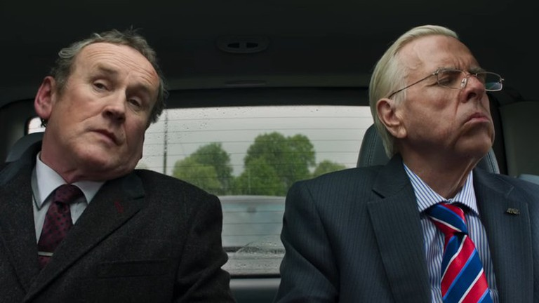 "Martin McGuinness (Colm Meaney) and Ian Paisley (Timothy Spall) in ""The Journey"""