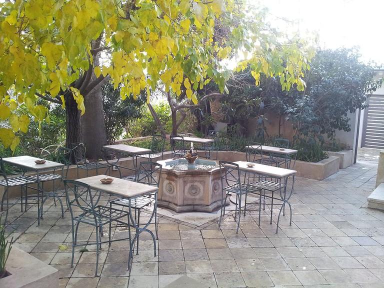 The outdoor area of Darat al Funun, The Khalid Shoman Foundation