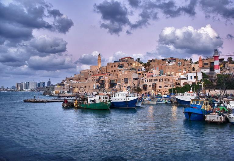 Jaffa port in the evening