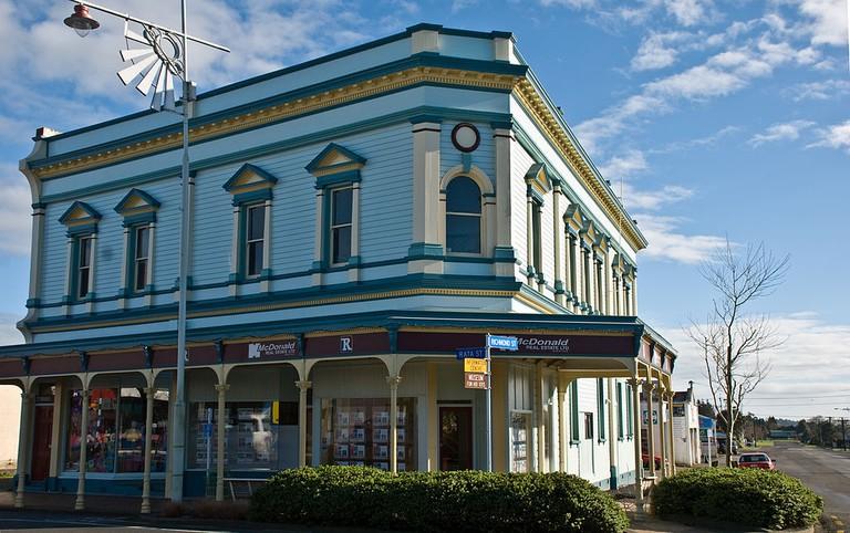 Victorian Commercial Block in Inglewood, New Zealand