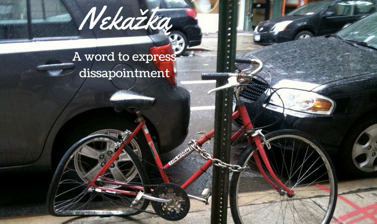 A bicycle after a crash