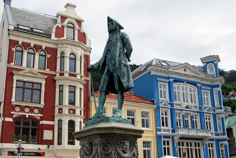 Statue of Ludvig Holberg in Bergen