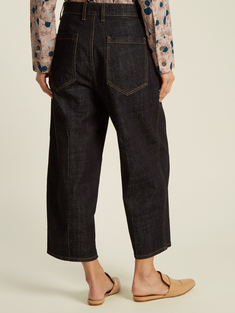 http://www.matchesfashion.com/products/Marni-High-waist-wide-leg-cropped-jeans-1152063