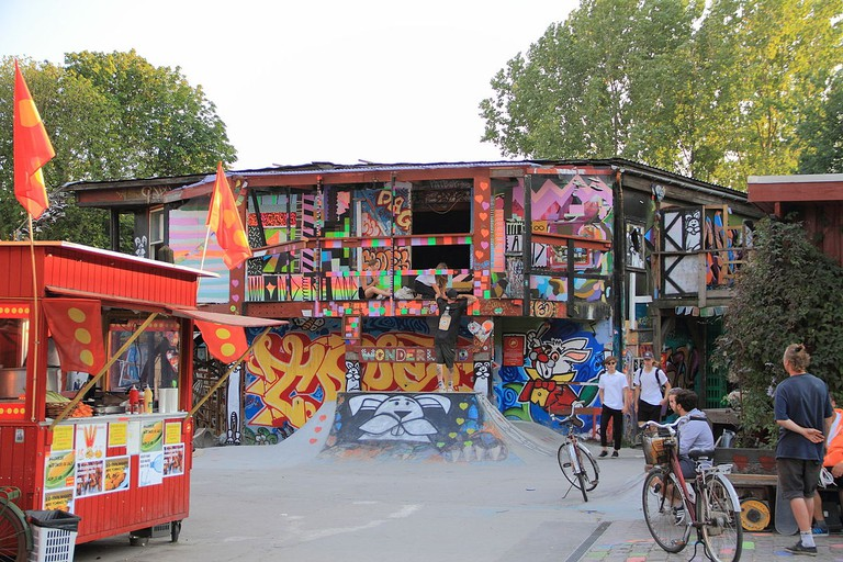 In der Freistadt Christiania im Sommer 2015