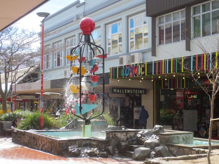 The Bucket Fountain on Cuba Street