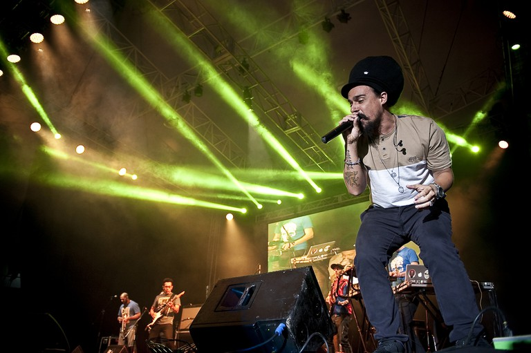 Dread Mar-I at the Guadalajara Book Fair