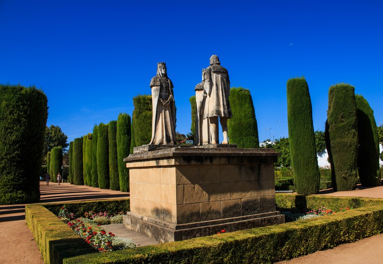 Statues of the Catholic kings in the Alcazar